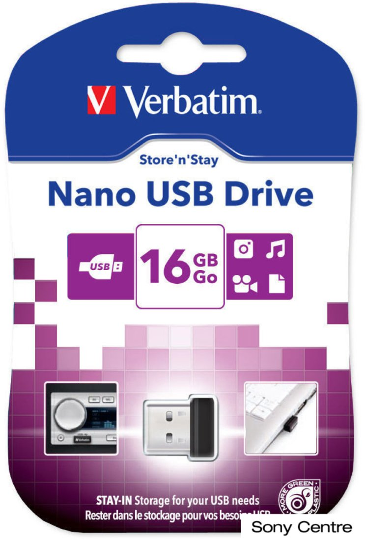 USB Flash Verbatim Store 'n' Stay NANO 16GB (97464)
